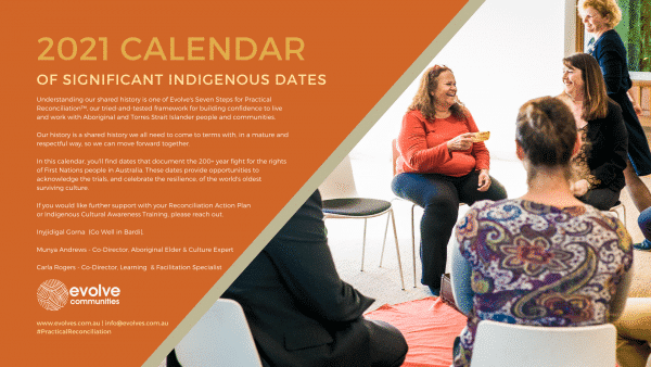 Cover of the 2021 Calendar of Significant Indigenous Dates