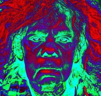 negative image of a man