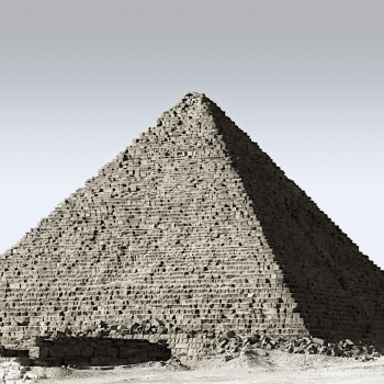 An ancient Egyptian pyramid