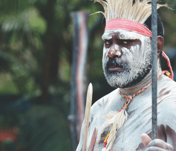 Indigenous Man in Traditional Body Paintnt
